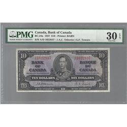 Bank of Canada BC-24a 1937 $10 osborne VF30 EPQ PMG