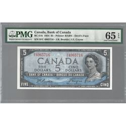 Bank of Canada BC-31b 1954 $5 GEM65 EPQ PMG