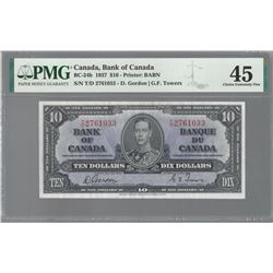 Bank of Canada BC-24b 1937 $10 EF45 PMG