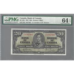 Bank of Canada BC-25b 1937 $20 CHUN64EPQ PMG