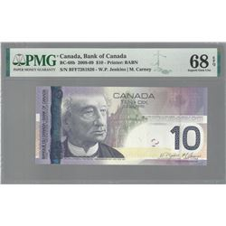 Bank of Canada SET OF 2 BC-68b 2008 $10 RADAR GEM68 EPQ