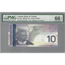 Bank of Canada SET OF 2 BC-68b 2008 $10 RADAR GEM66 EPQ