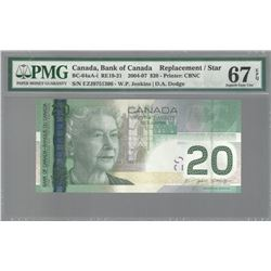 Bank of Canada SET OF 3 REPLACEMENTS BC-64aA-I 2004 $20 GEM67 EPQ PMG