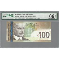 Bank of Canada BC-66a 2004 $100 GEM66 EPQ PMG