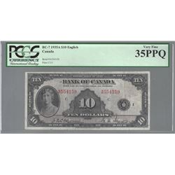 Bank of Canada BC-7 1935 $10 VF35 PPQ PCGS