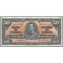 Bank of Canada BC-26a 1937 $50 Osborne VF30 RAW