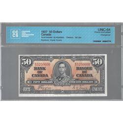 Bank of Canada BC-26c 1937 $50 CHUNC64 CCCS