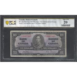 Bank of Canada BC-24a 1937 $10 VF20 PCGS