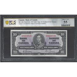 Bank of Canada BC- 24b 1937 $10 AU55 PCGS