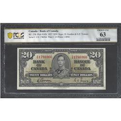 Bank of Canada BC- 25b 1937 $20 CHUNC63 PCGS