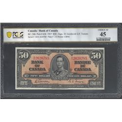 Bank of Canada BC- 26b 1937 $50 EF45 PCGS