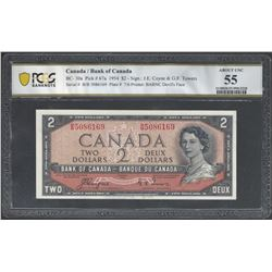 Bank of Canada BC-30a 1954 $2 AU55 PCGS