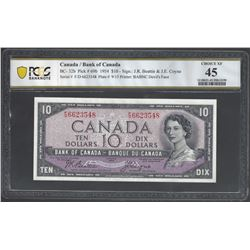 Bank of Canada BC-32b 1954 $10 XF45 PCGS