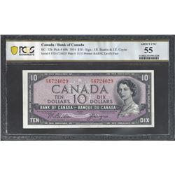 Bank of Canada BC-32b 1954 $10 AU55 PCGS