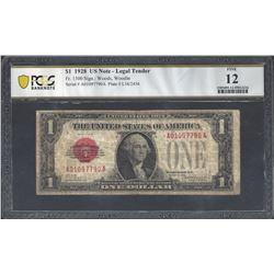 USA Fr.1500 1928 $1 Legal tender F12 PCGS