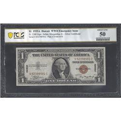 USA Fr.2300 1935 $1 AU50 PCGS