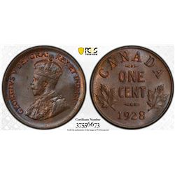 Canada 1928 1 cent MS65BN PCGS
