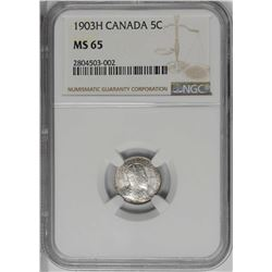 Canada 1903H 5 cents MS65 PCGS