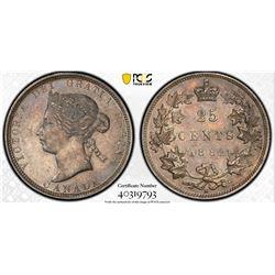 Canada 1882H 25 cents AU53 PCGS