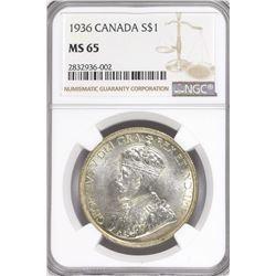 Canada 1936 dollar MS65 NGC