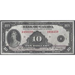Bank of Canada BC-7 1935 $10 EF40+ Raw