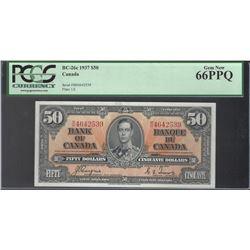Bank of Canada BC-26c 1937 $50 GEM66PPQ PCGS