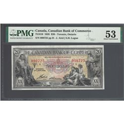 Canadian Bank of Commerce 75-18-10 1935 $20 AU53 PMG
