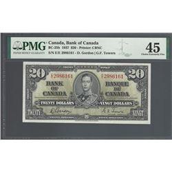 Bank of Canada BC-25b 1937 $20 EF45 PMG