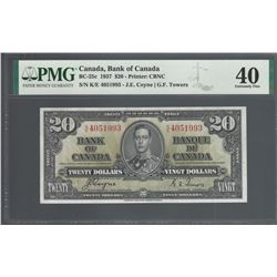 Bank of Canada BC-25c 1937 $20 EF40 PMG
