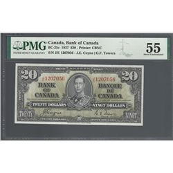 Bank of Canada BC-25c 1937 $20 AU55 PMG