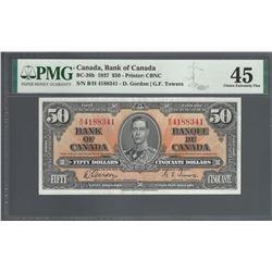 Bank of Canada BC-26b 1937 $50 EF45 PMG