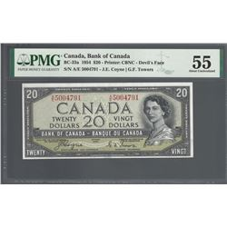 Bank of Canada BC-33a 1954 $20 Devil's Face AU55 PMG
