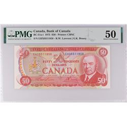Bank of Canada BC-51a-i 1975 $50 AU50 PMG