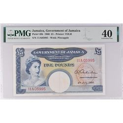 Jamaica Pick 48b 1960 5 Pounds  EF40 PMG