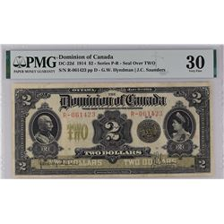 Dominion of Canada DC-22d 1914 $2 VF30 PMG
