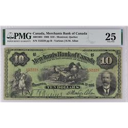 Merchants Bank 460-16-04 1906 $10 VF25 PMG