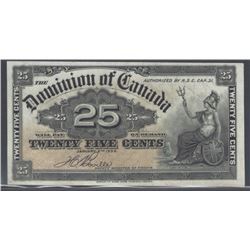 Dominion of Canada DC-15b 1900 $0.25 AU/UNC RAW