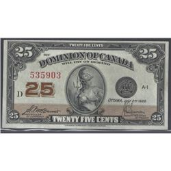 Dominion of Canada DC-24c 1923 $0.25 CHUNC RAW