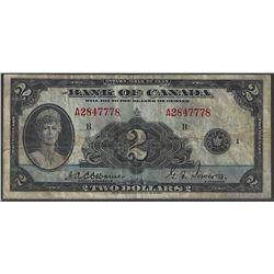 Bank of Canada BC-3 1935 $2 VF+ RAW