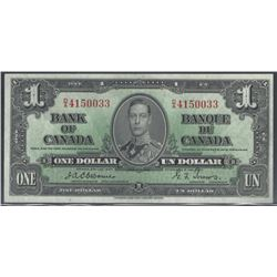 Bank of Canada BC-21a 1937 $1 Osborne CHUNC RAW