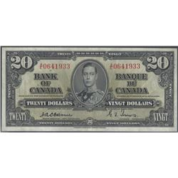 Bank of Canada BC-25a 1937 $20 Osborne EF/AU RAW