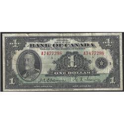 Bank of Canadfa BC-1 1935 $1 VF/EF