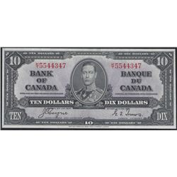 Bank of Canada BC-24c 1937 $10 Choice AU