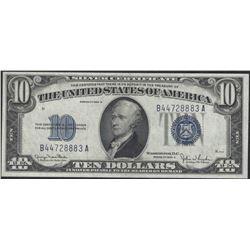 USA 1934 $10 silver certificate AU/UNC