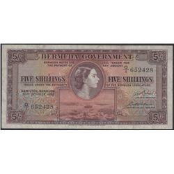 Bermuda 1952 5 Shillings EF