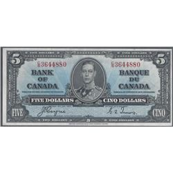 Bank of Canada BC-23c 1937 $5 UNC+ RAW