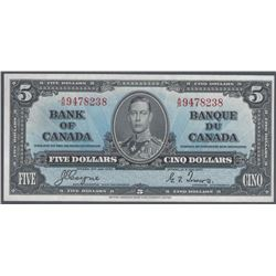 Bank of Canada BC-23c 1937 $5 CHUNC  RAW