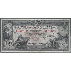 Canadian Bank of Commerce 75-18-08b 1935 $10 AU RAW