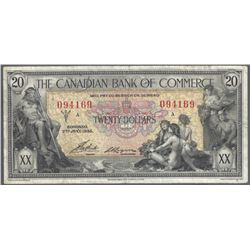 Canadian Bank of Commerce 75-18-08b 1935 $20 Choice VF RAW