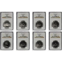 CANADA. FINEST KNOWN Complete set of Voyageur Dollars (13 Pieces), 1975-87. Ottawa Mint. All NGC Cer